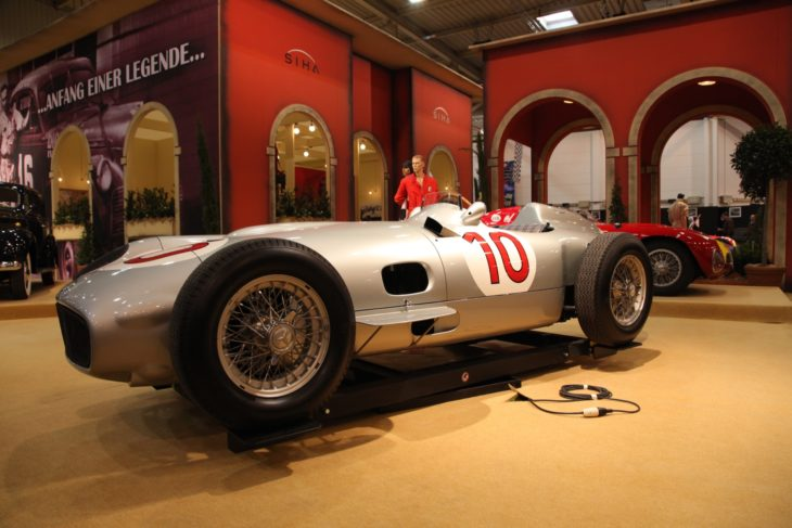 Historic Mercedes-Benz W 196 R from 1954 shown at the Essen Motor Show in Essen, Germany, on November 29, 2011